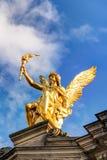 Statue auf dem Albertinum Stockfotografie