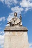 Statue auf dem Wadenetz bridge Pont du carrousel Paris stockfotos