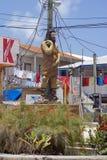 Statue auf der Seite der Straße auf Amber-Schlüssel lizenzfreie stockbilder