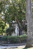 Statue auf der Terrasse am Achilleions-Palast auf der Insel von Korfu Griechenland errichtet von der Kaiserin Elizabeth von Öster Lizenzfreies Stockbild