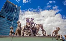Statue auf König George Square Brisbane Australia stockbild