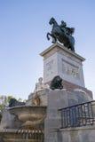 Statue auf Madrid Stockfotografie