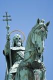 Statue auf Pferderuecken, Budapest, Ungarn Stockfotografie
