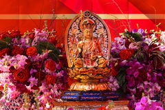 Statue auf religiösem Altar für chinesisches neues Mondjahr Lizenzfreies Stockbild