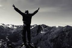 Statue augmentée debout d'homme de bras Photographie stock libre de droits