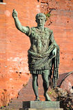 Statue of Augusto Roman Emperor. Porte Palatine in Turin, Piedmont, Italy Royalty Free Stock Images
