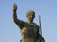 Statue of Augustus Caesar Stock Photo