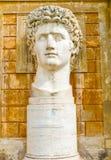 Statue of Augustus in Vatican museum Stock Image