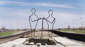 Statue in Auschwitz concentration camp Royalty Free Stock Photography