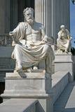 Statue of Austrian Parliament Building, Vienna, Austria Stock Images