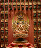 Buddhist statues in a temple royalty free stock images