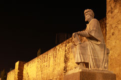 Statue of Averroes Stock Photos