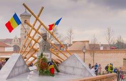 Statue Of Avram Iancu. In Alba Iulia, Romania Stock Photography