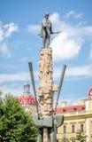 Statue of Avram Iancu, Romanian National Hero. CLUJ-NAPOCA, ROMANIA - 23 AUGUST 2016: Statue of Avram Iancu, Romanian National Hero in the center of Cluj Napoca Royalty Free Stock Photography