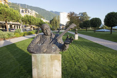 Statue of B.B. King in Montreux Royalty Free Stock Image