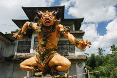 Statue of Balinese demon made for Ogoh-ogoh parade (Balinese New Stock Photos