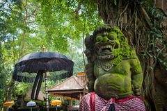 Statue of Balinese demon in Ubud Stock Photography