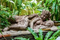 Statue of Balinese lovers stock photos