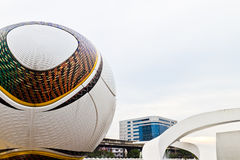 Statue of the ball. Rajamangala Stadium. Statue of the ball. Rajamangala Stadium in Thailand Stock Image