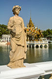 Statue in Bang Pa In Palace Royalty Free Stock Photography