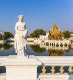 Statue at Bang Pa-In Palace, the summer palace of the King Royalty Free Stock Images