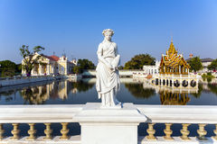 Statue at Bang Pa-In Palace, the summer palace of the King Stock Photo
