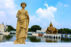 Statue at Bang Pa-In Palace, Thailand (Summer Palace of the Thai Royalty Free Stock Images