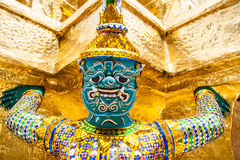 Statue in Bangkok Grand Palace. Within the temple of the Emerald Buddha (Wat Phra Kaew Stock Photo