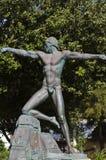 Statue, Barrakka inférieur, La Valette Malte image libre de droits