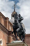 Statue of Bartolomeo Colleoni. 15th century statue of Bartolomeo Colleoni the famous condottiere or commander of mercenaries in Venice, Italy Stock Photography