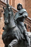Statue of Bartolomeo Colleoni. 15th century statue of Bartolomeo Colleoni the famous condottiere or commander of mercenaries in Venice, Italy Stock Photos