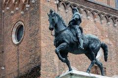 Statue of Bartolomeo Colleoni. 15th century statue of Bartolomeo Colleoni the famous condottiere or commander of mercenaries in Venice, Italy Stock Image