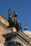 Statue of Bartolomeo Colleoni  in Venice (Italy) Royalty Free Stock Images