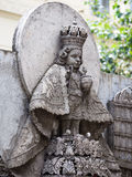 Statue in Basilica del Santo Nino. Cebu, Philippines. Statue in the courtyard of the old catholic church of the Basilica del Santo Nino. Cebu, Philippines stock photos
