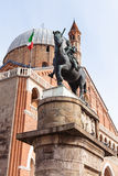 Statue and Basilica of Saint Anthony of Padua Stock Photography