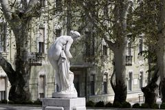 Statue of bathing woman Royalty Free Stock Image