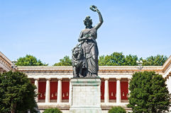 Statue of bavaria. Famous statue of bavaria at the theresienwiese in munich - germany Stock Photos