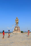 A statue at Beach Kep in Cambodia Stock Photography