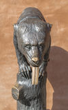 Statue of a bear with a long tongue Royalty Free Stock Image