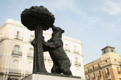 Statue of the Bear and the Strawberry Tree - Madrid - Spain. Statue of the Bear and the Strawberry Tree - Madrid royalty free stock images