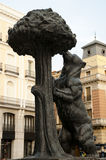 Statue of the Bear and the Strawberry Tree - Madrid - Spain. Statue of the Bear and the Strawberry Tree - Madrid stock photography