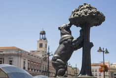 Statue of Bear and strawberry tree, Madrid Stock Photo