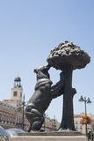 Statue of Bear and strawberry tree, Madrid Stock Image