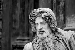 Statue of bearded man Royalty Free Stock Photos