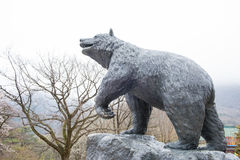 The statue bears the legend at Seoraksan national park. Royalty Free Stock Photos