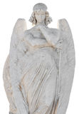 Statue of a beautiful angel isolated on whi Royalty Free Stock Photos