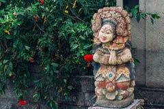 Statue of beautiful woman on Bali island Stock Photography