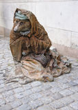 Statue of begging bear in stockholm. Royalty Free Stock Images