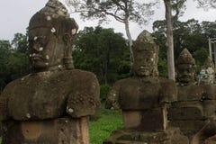 Statue bei Angkor Wat Stockfotos