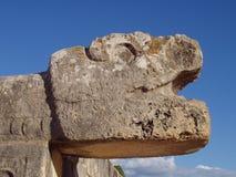 Statue bei Chichen Itza Lizenzfreies Stockfoto